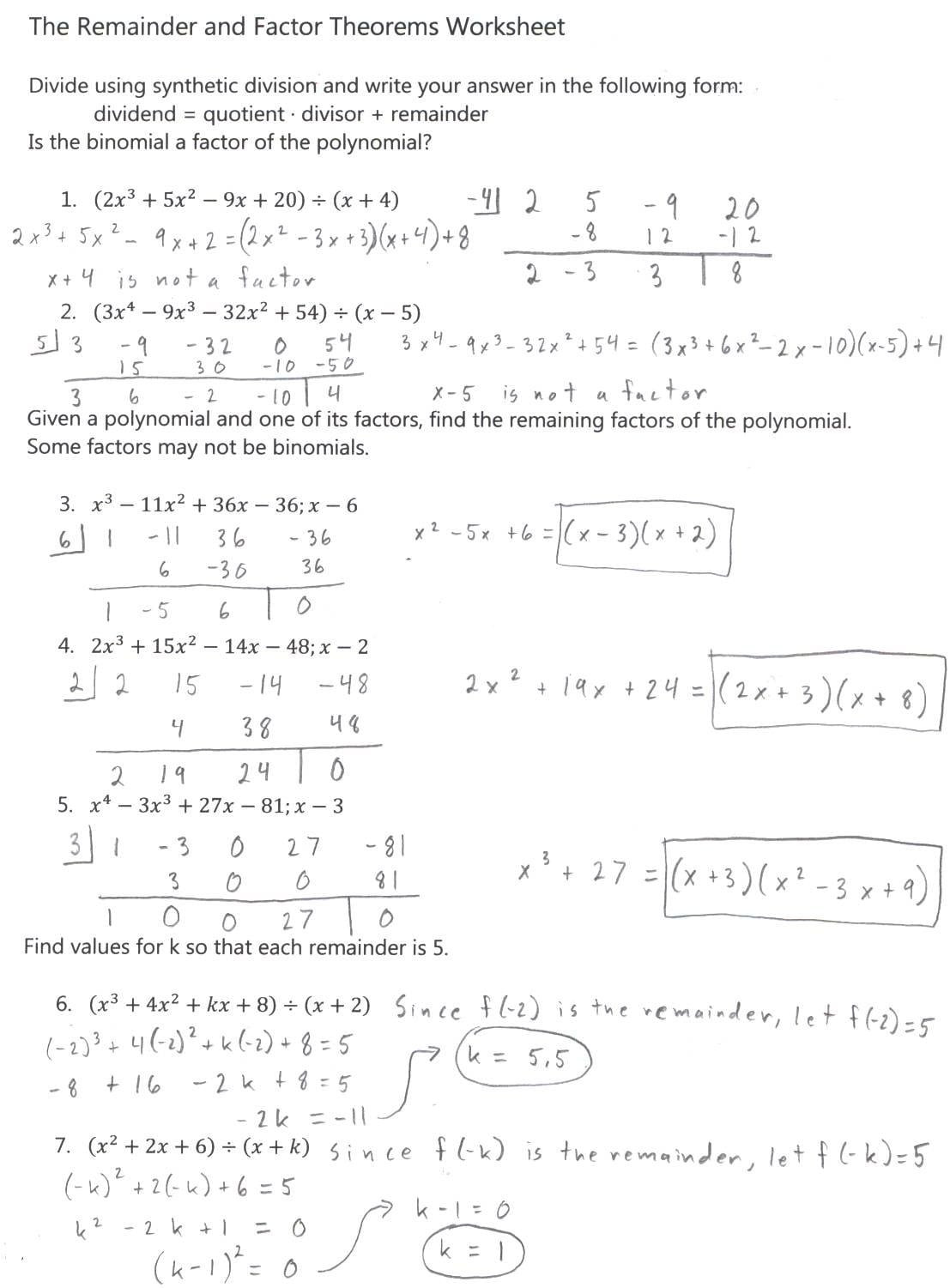 30 Factoring Polynomials Worksheet Answers