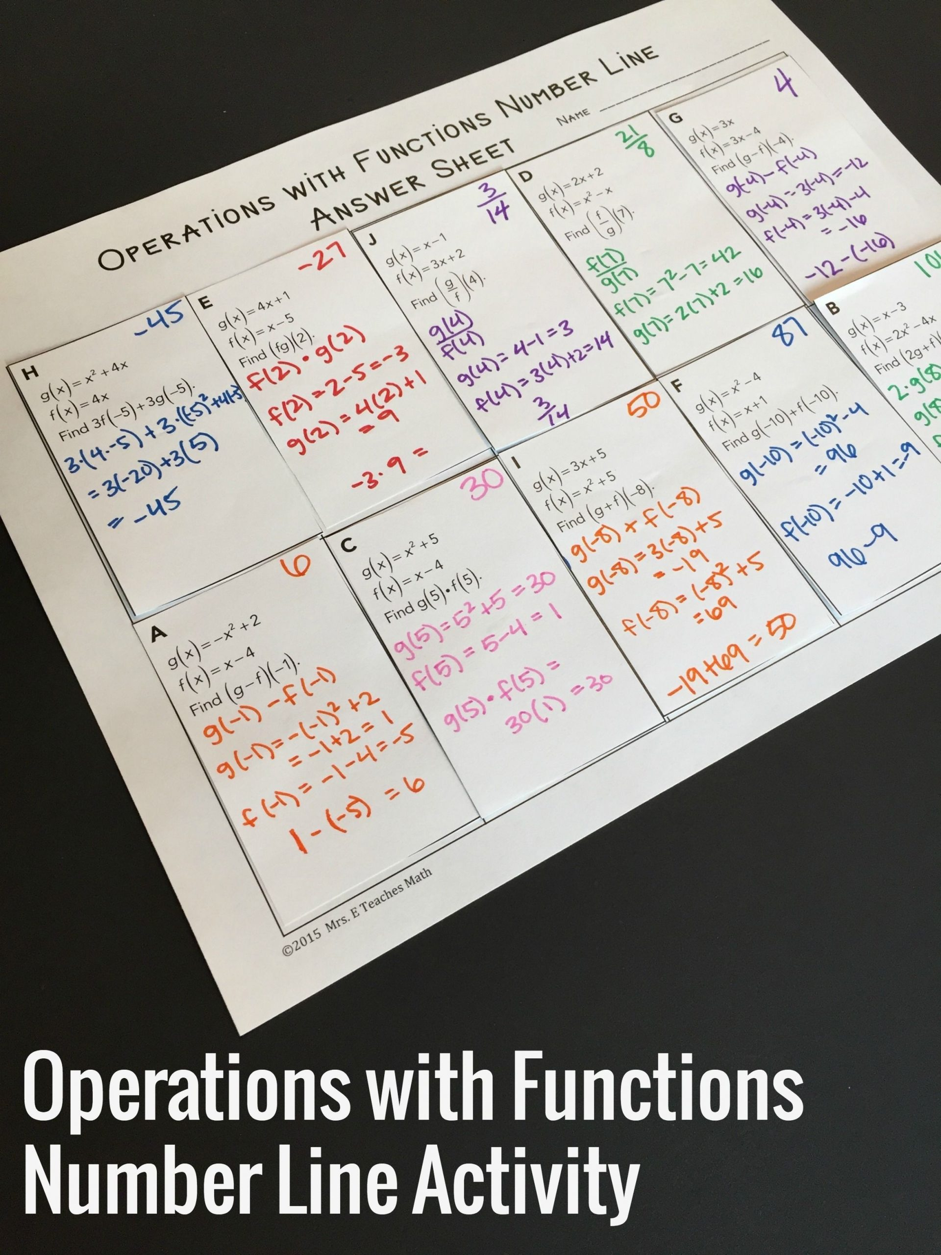 Function Operations And Composition Worksheet Education