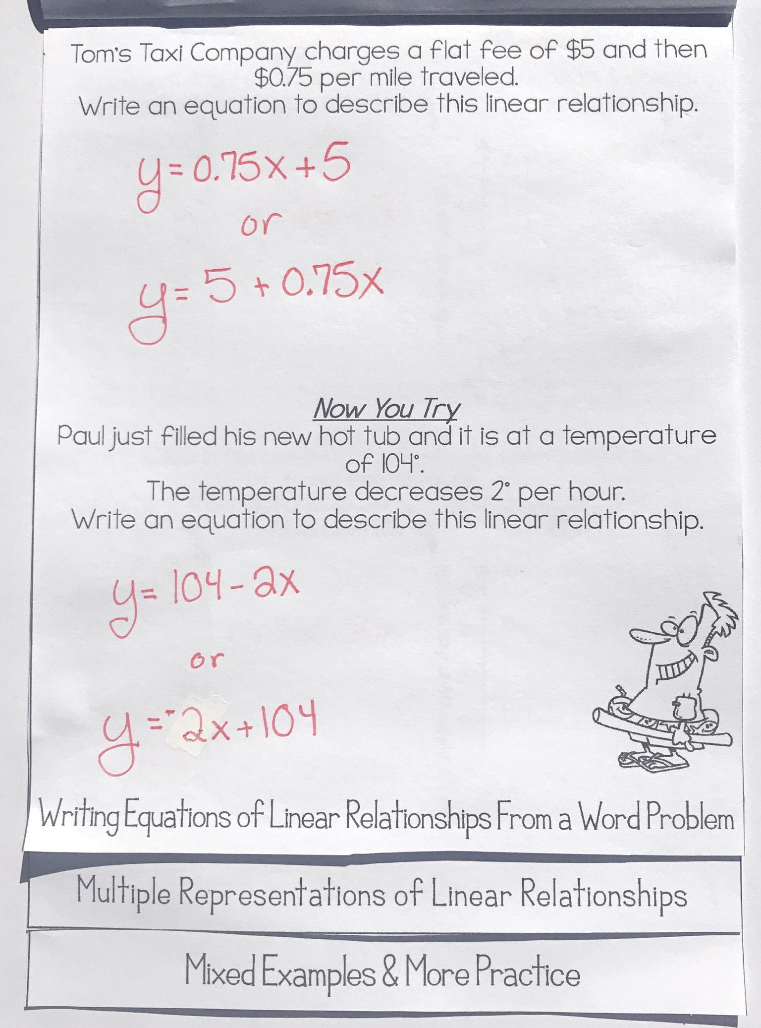 30 Linear Equations Word Problems Worksheet
