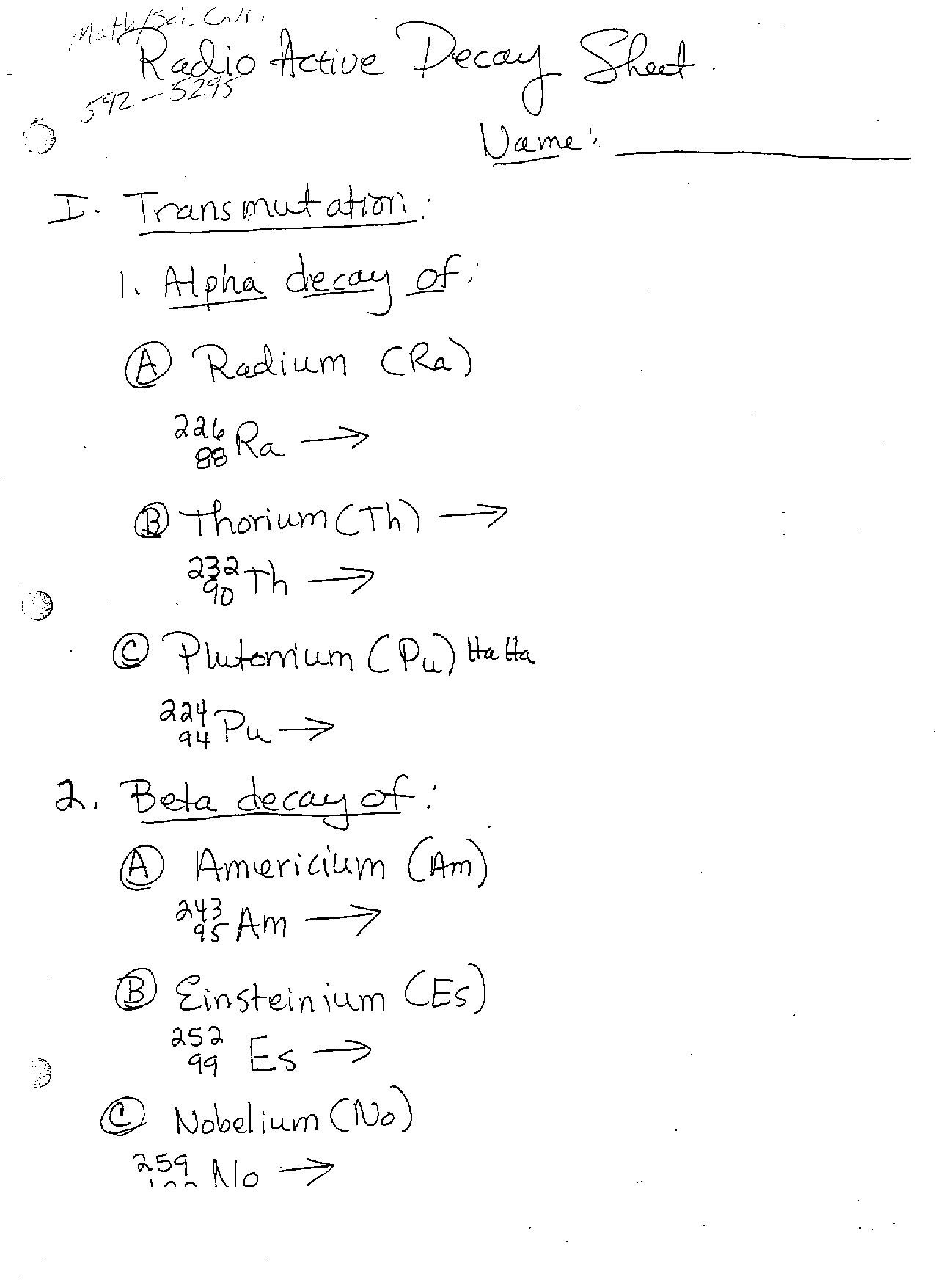 30 Nuclear Chemistry Worksheet Answers
