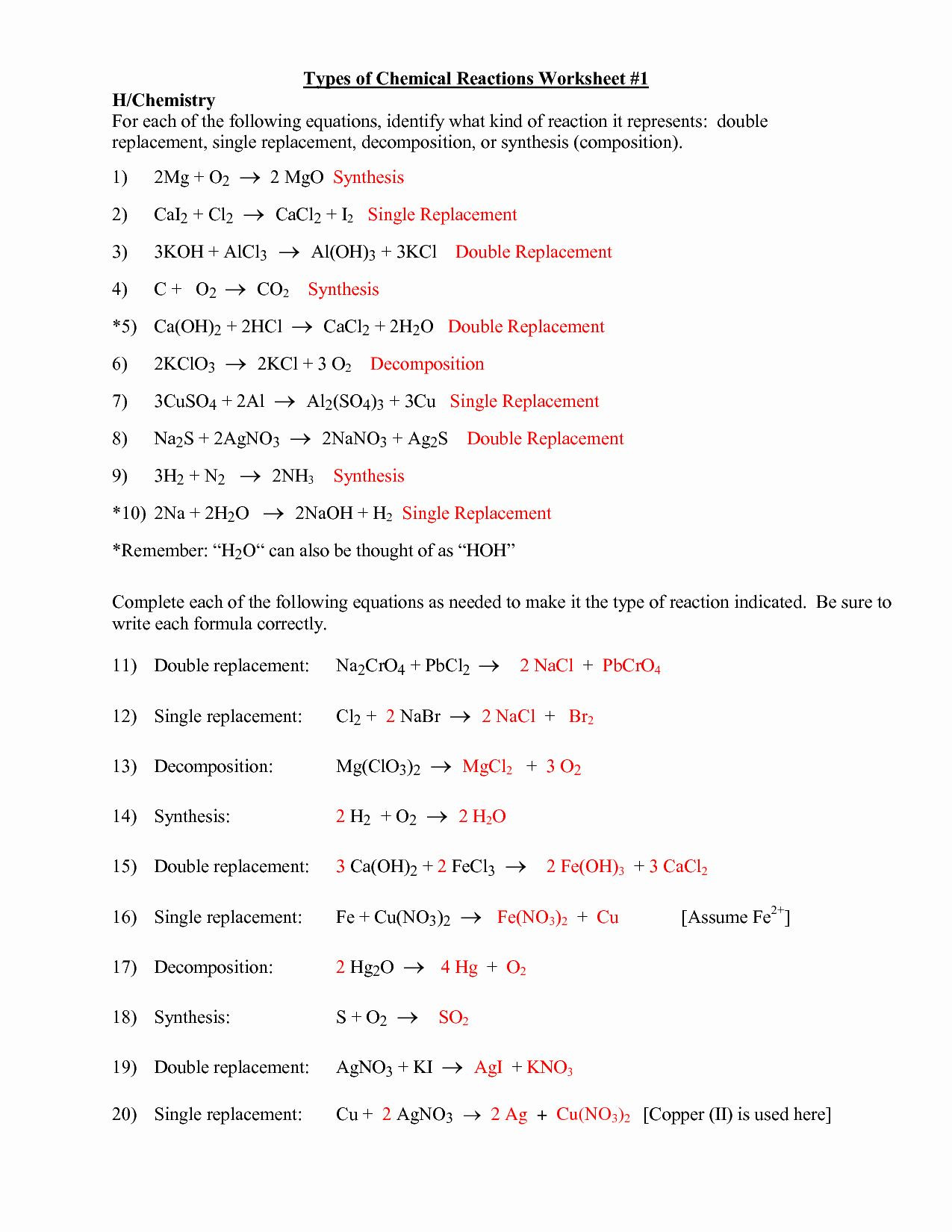 30 Organic Chemistry Worksheet With Answers