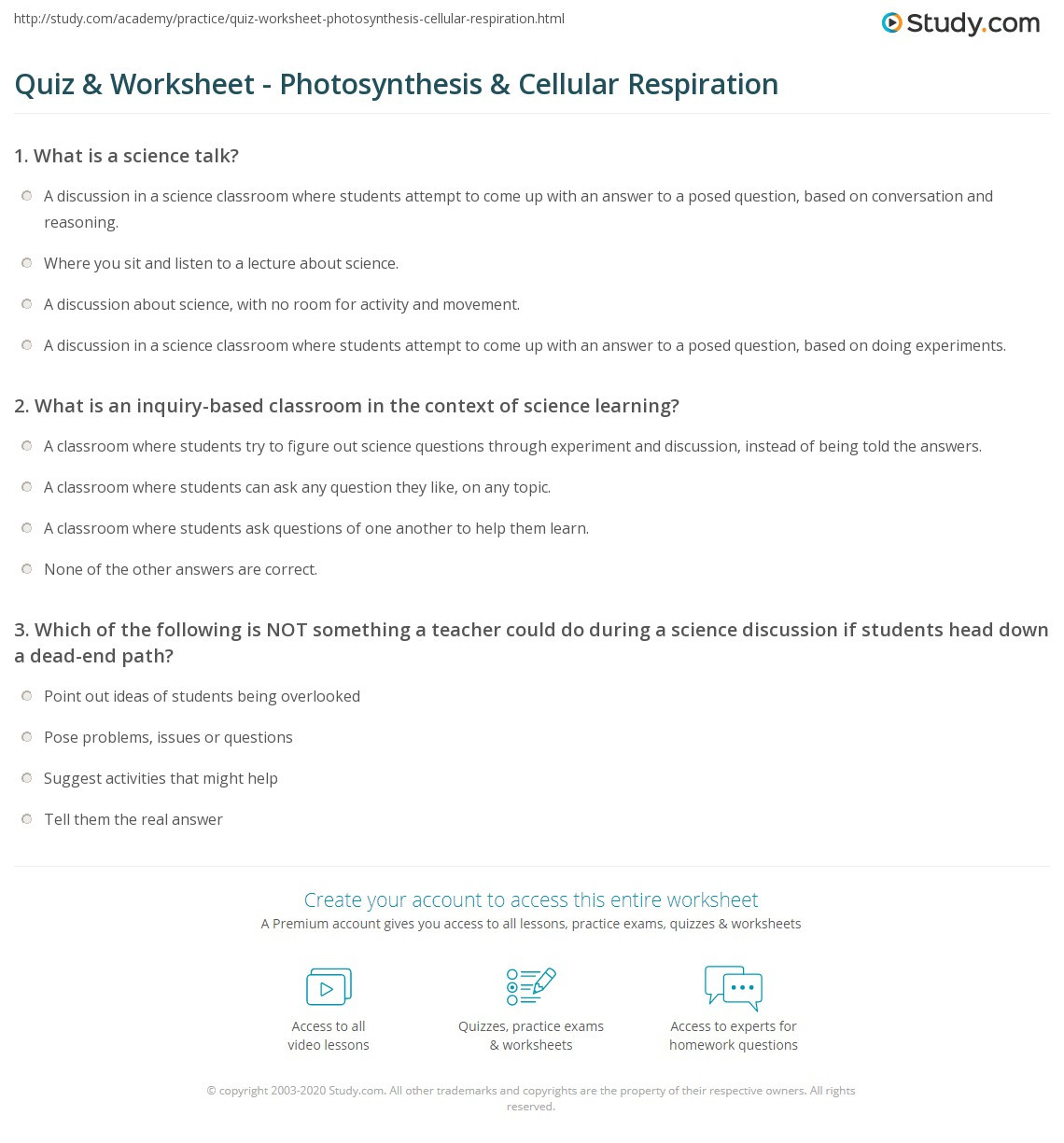 30 Photosynthesis And Respiration Worksheet Answers