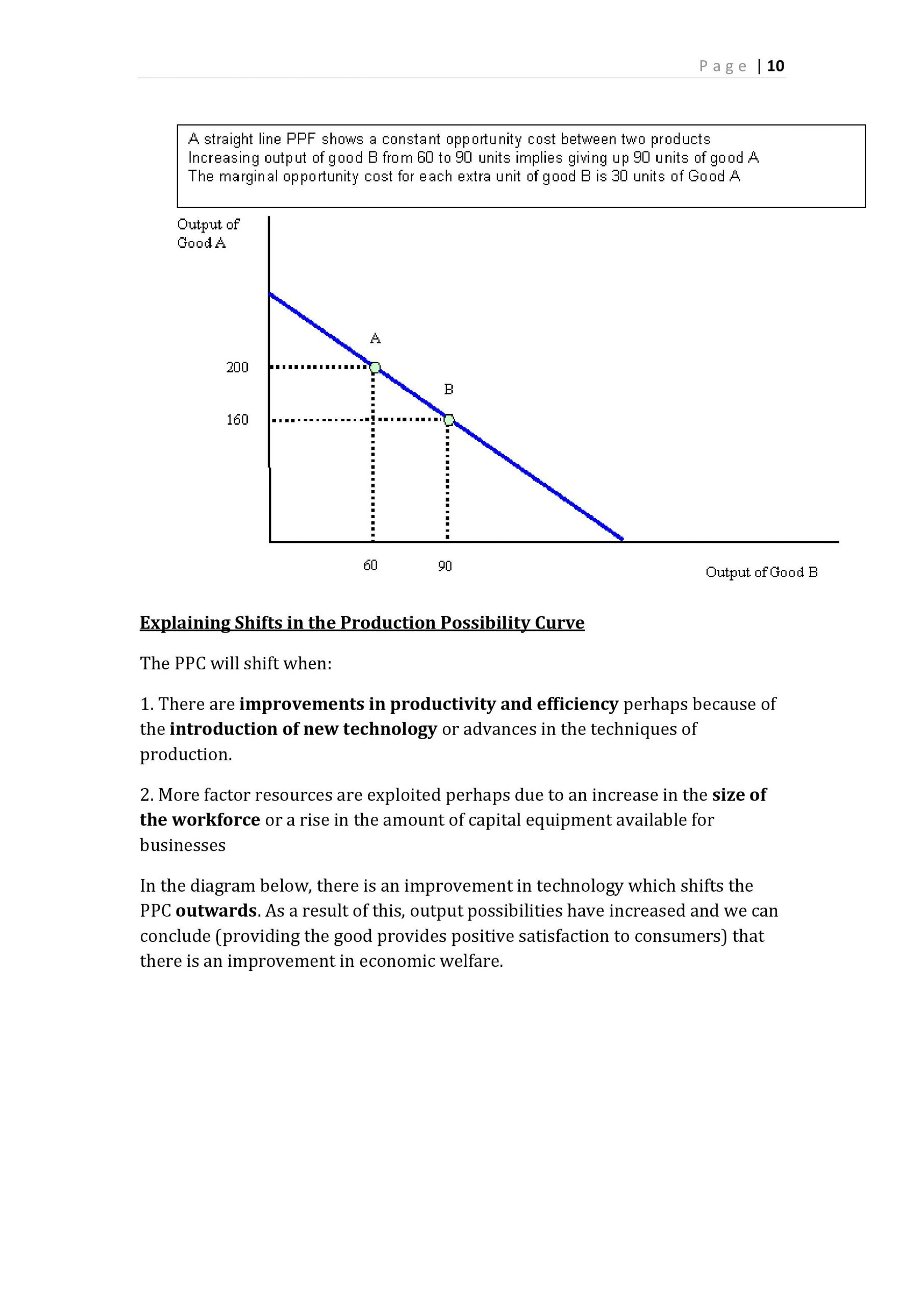 31 Production Possibilities Curve Worksheet Answers