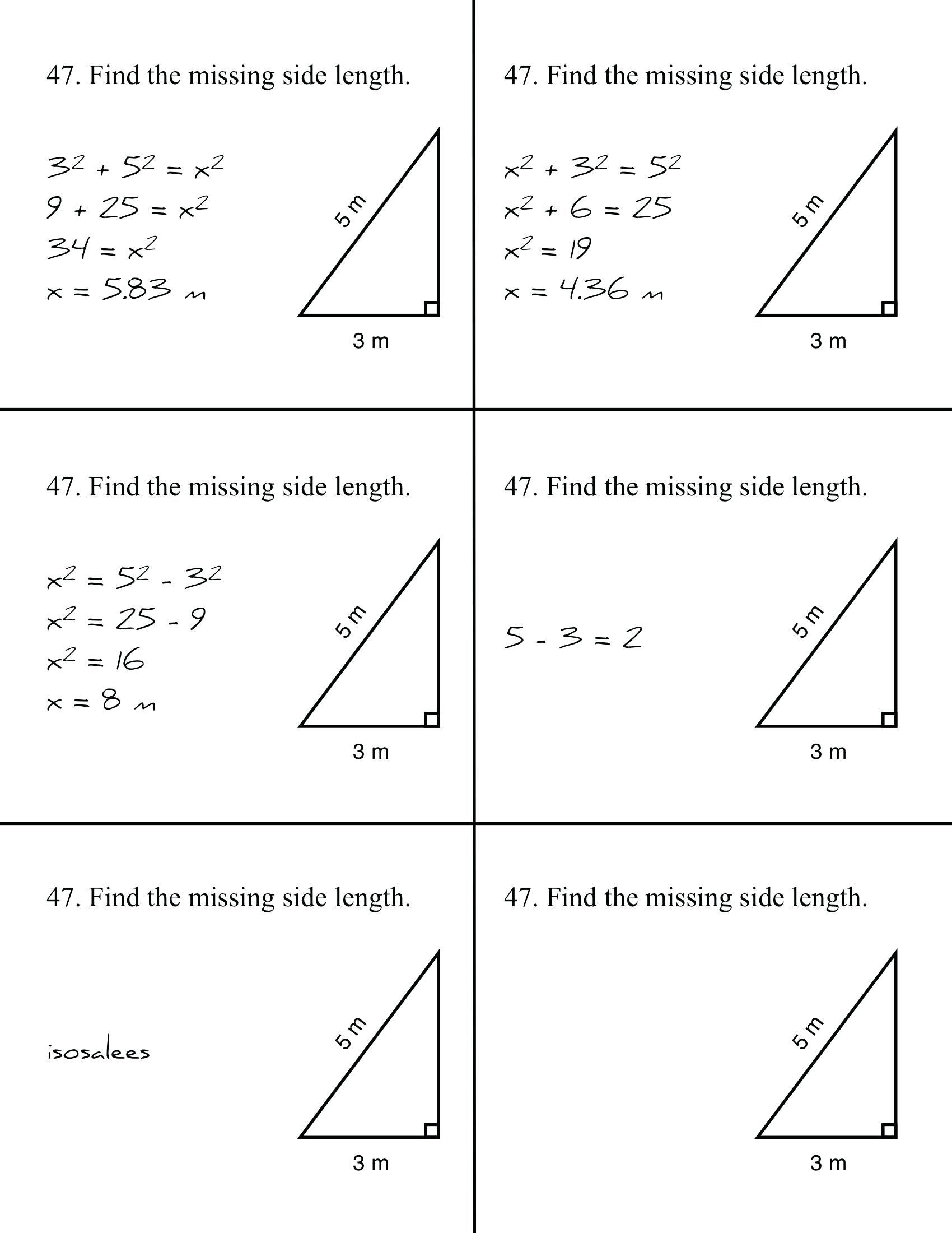 30 Pythagoras Theorem Worksheet With Answers