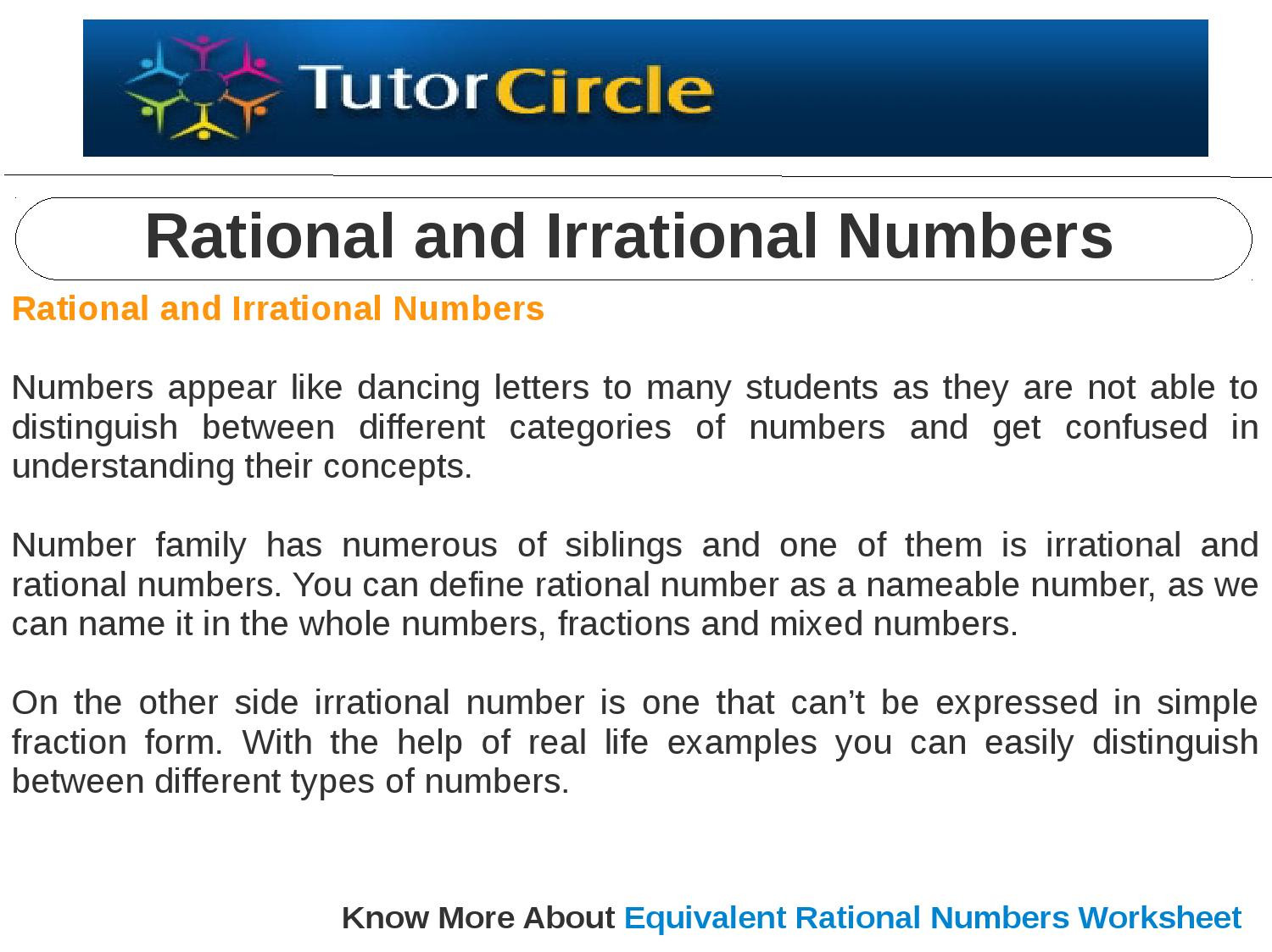 30 Rational And Irrational Numbers Worksheet