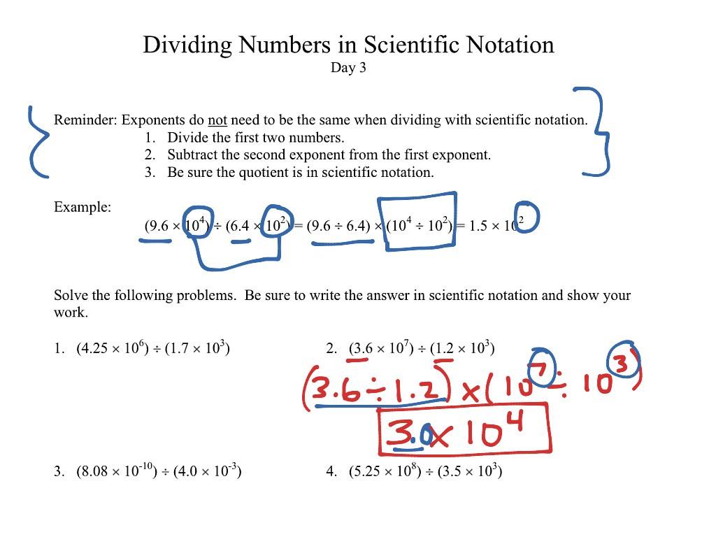 30 Scientific Notation Word Problems Worksheet