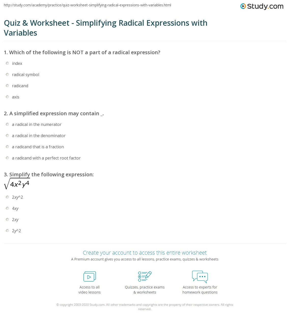 30 Simplifying Radicals Worksheet 1
