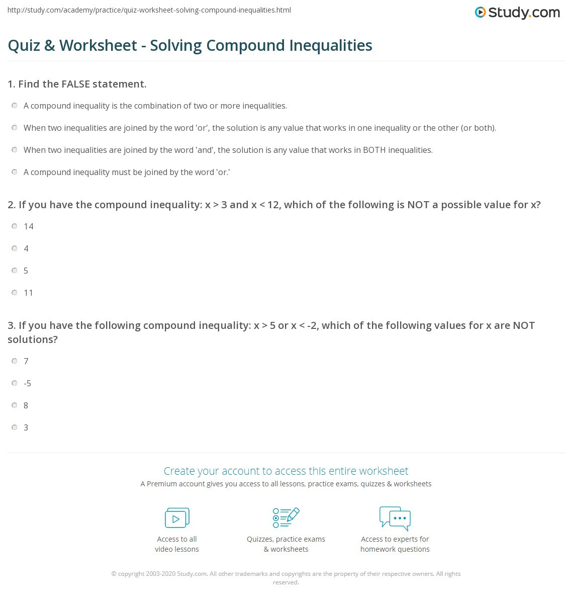 30 Solving Compound Inequalities Worksheet