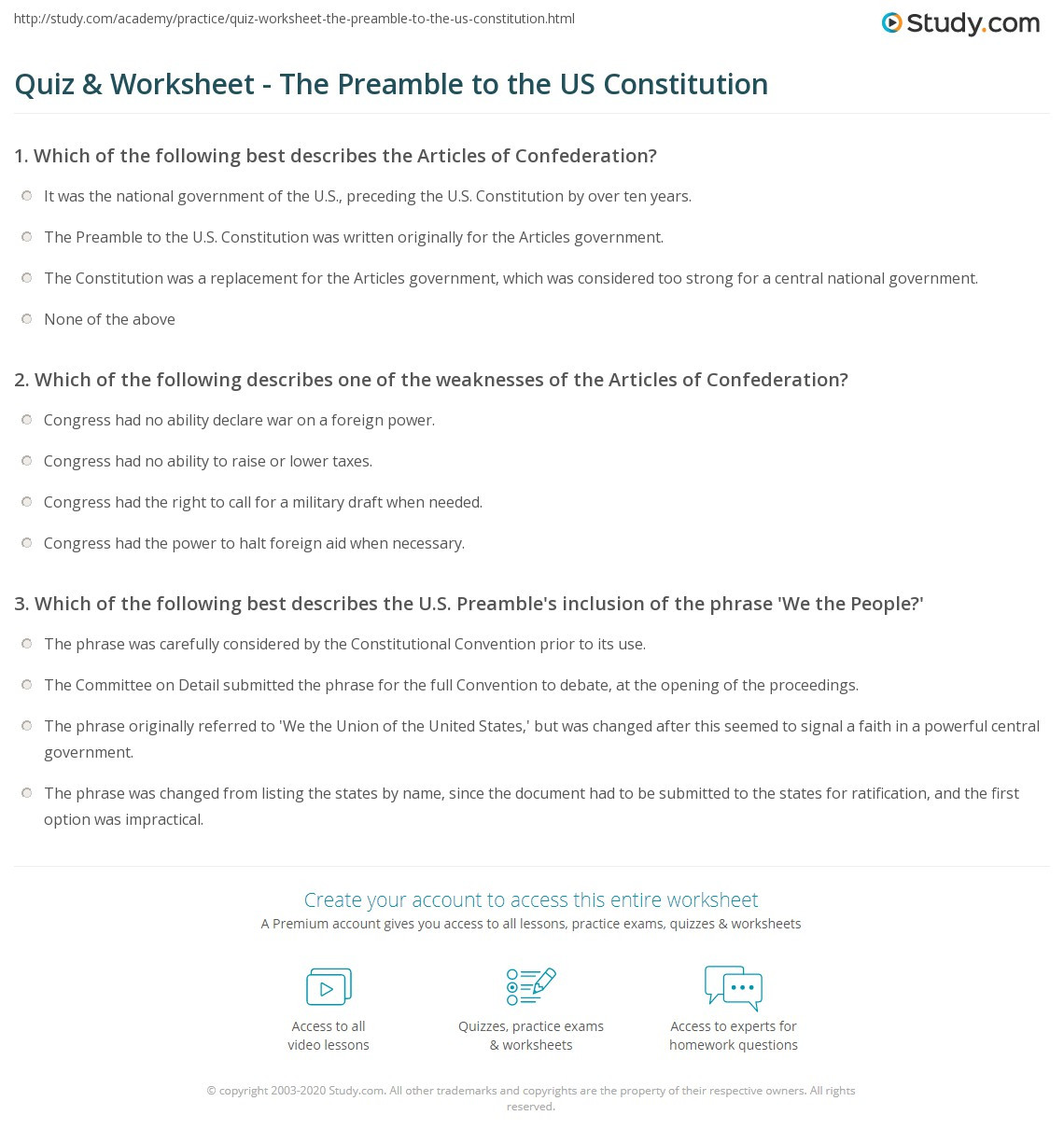 30 The Us Constitution Worksheet