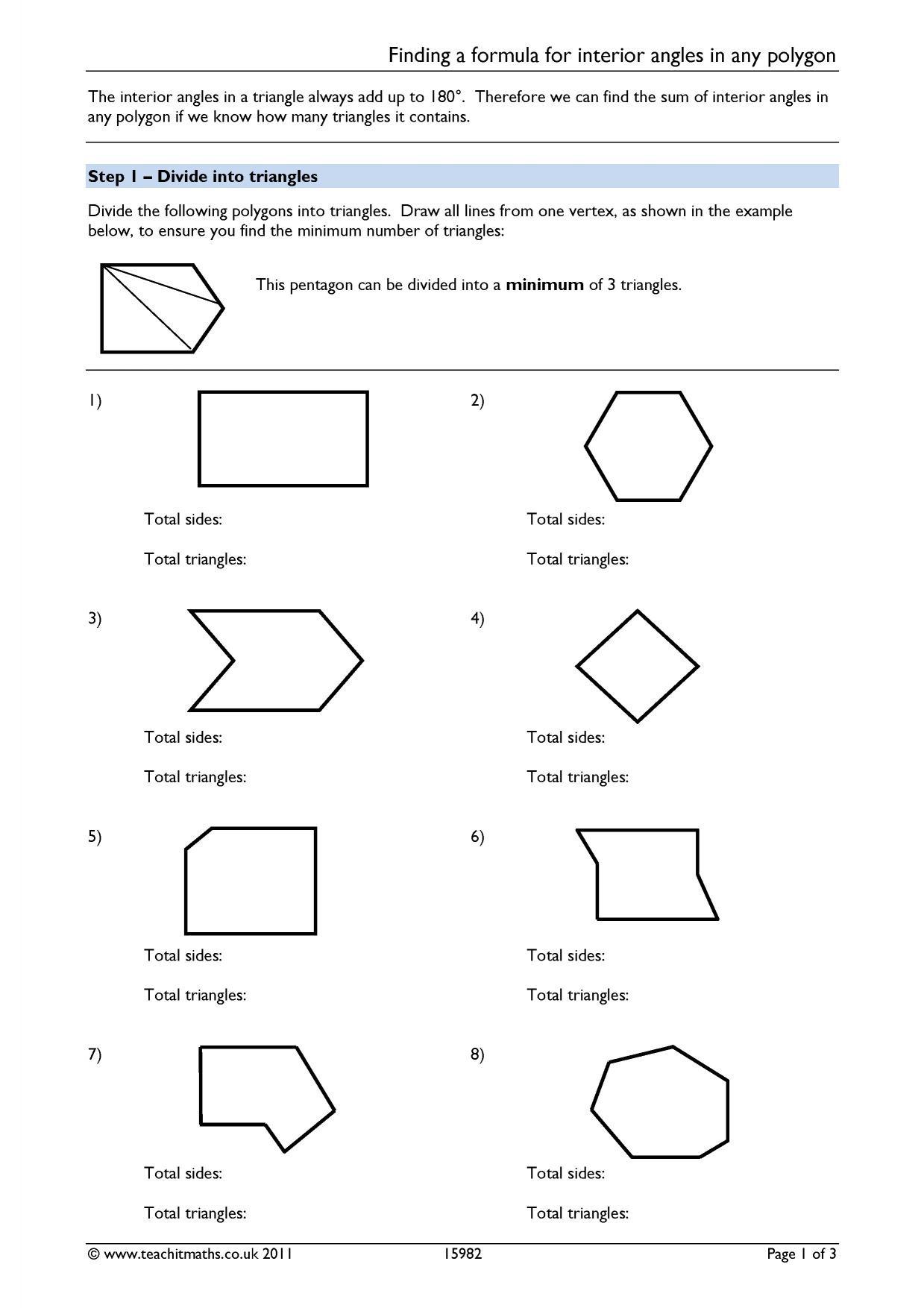 30 Triangle Angle Sum Worksheet