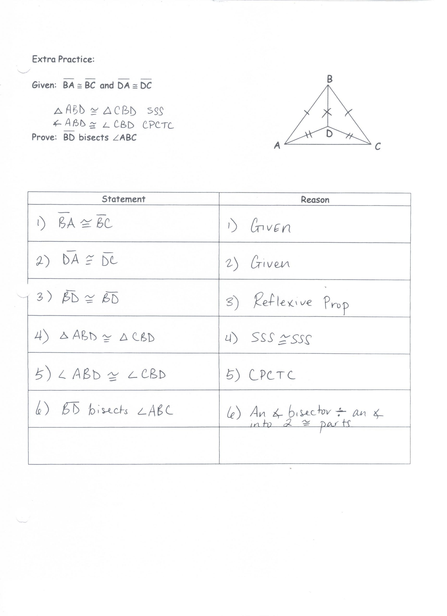 30 Triangle Congruence Proof Worksheet