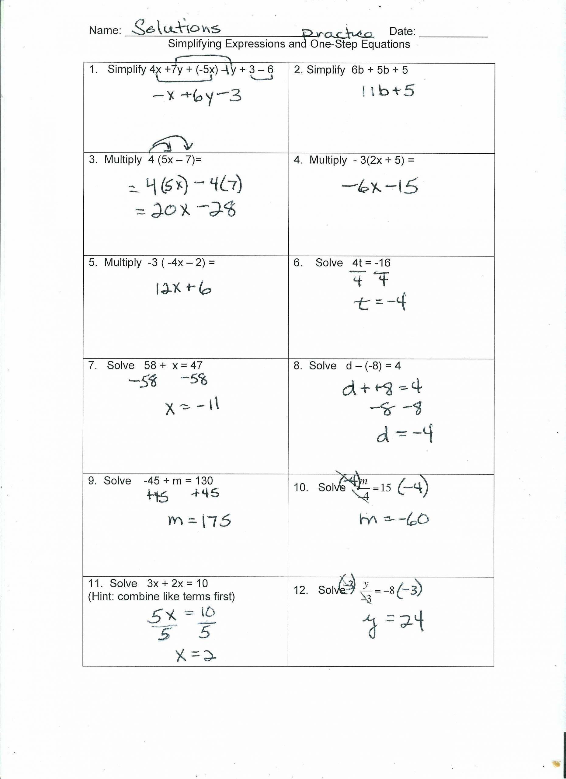 30 Two Step Equations Worksheet