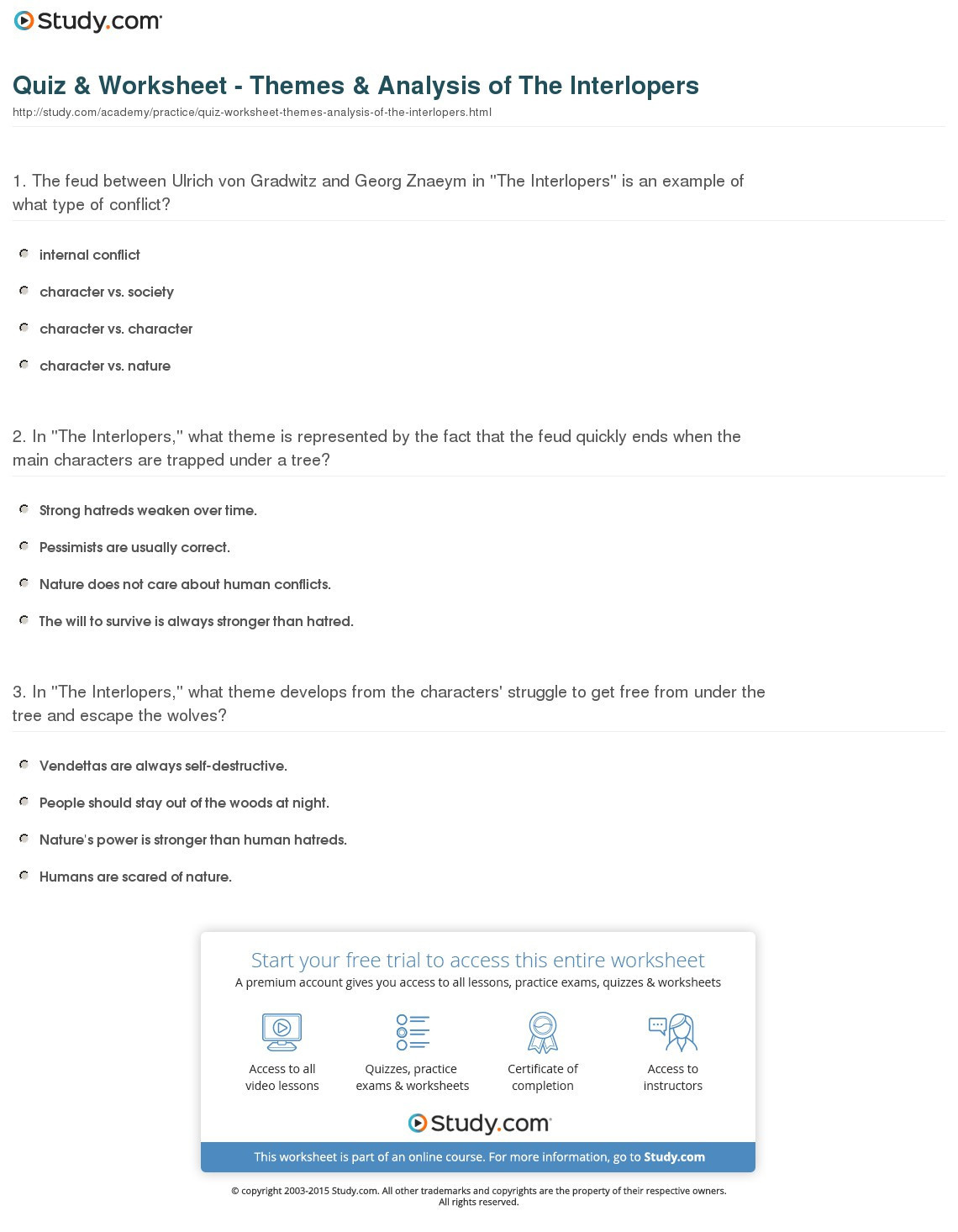 30 Types Of Conflict Worksheet