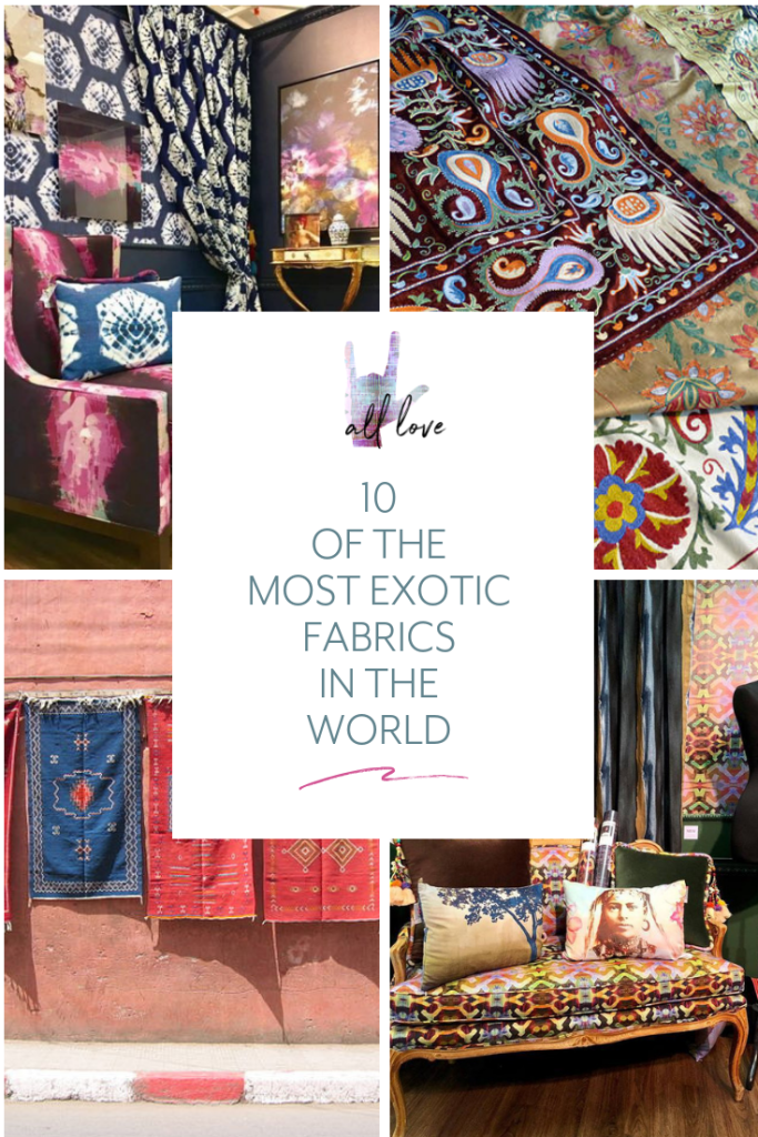 This exotic fabrics list encompasses a range of global styles and surface textures, to inspire the most well travelled home decorator. Find out if your favorite fabric by the yard measures up!