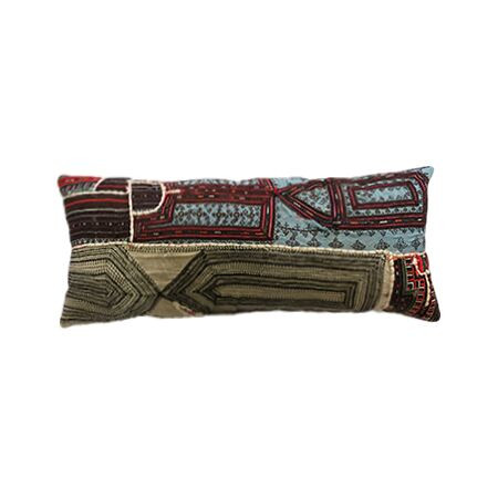 Vintage Ralli Quilt Throw Pillow