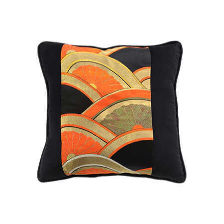 Vintage Orange/Gold Obi Pillow