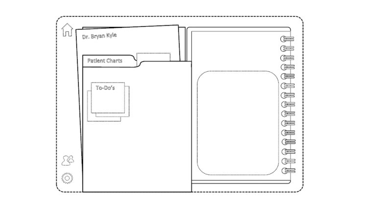 Design Patent D670715 for a display screen with GUI for medical scheduling
