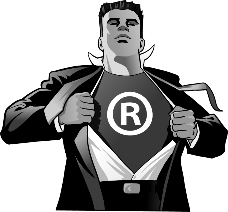Superhero with Trademark Registration Symbol