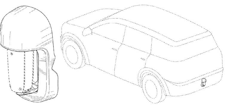 Waymo's February 11, 2020 Design Patent D874,957 for a Rear Sensor Housing
