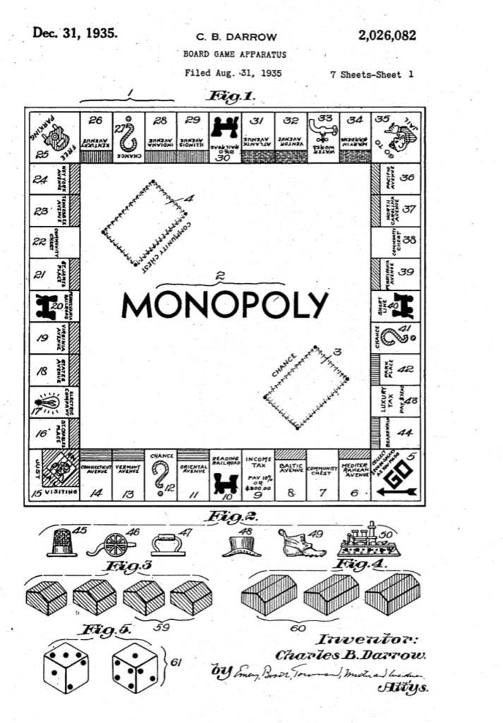 Patent for Monopoly