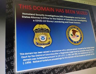 DOJ seized Fraudulent COVID-19 domain name