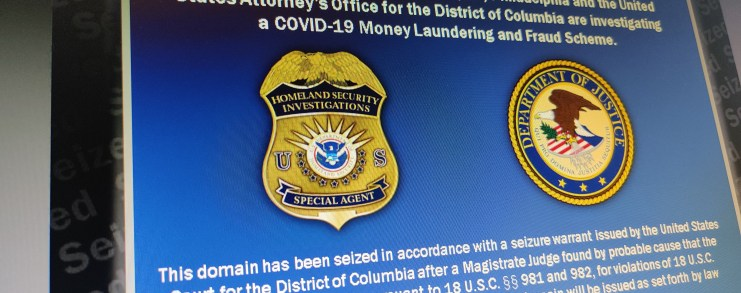 DOJ seized Fraudulent COVID-19 domain name