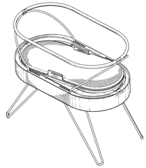 Infant tech patent drawing - smart bassinet