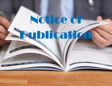 Notice of Publication