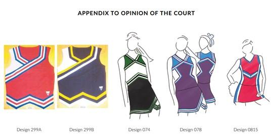 Cheerleader uniform copyright