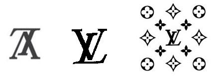 Various LV Louis Vuitton trademarks