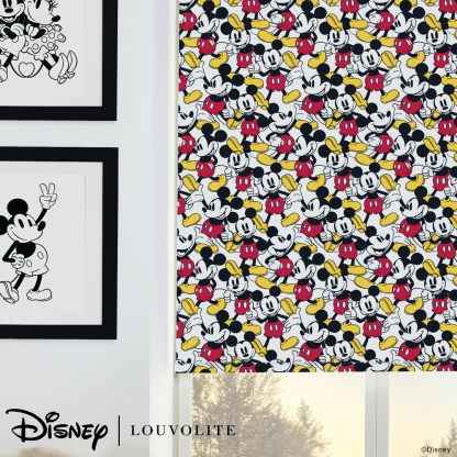 room setting close up of disney mickey mouse roller blind