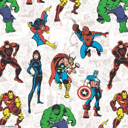 close up of marvel avengers roller blind