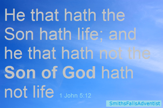He that hath the Son hath life; and he that hath not the Son of God hath not life