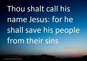 Jesus saves according to scripturee