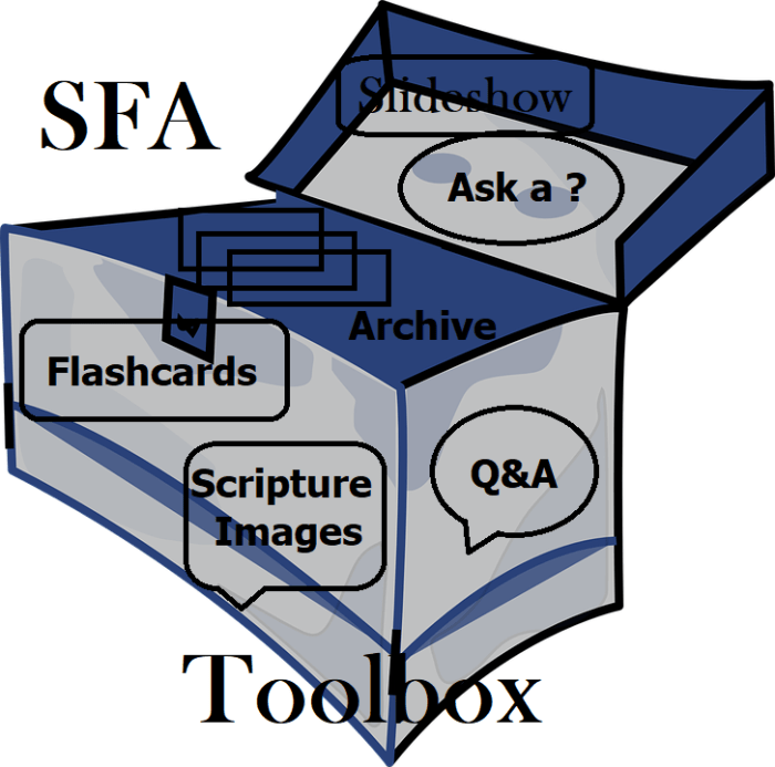 SFA Learning toolbox showing all the tools