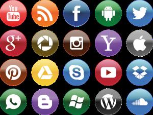 Illustration-Social-media all icons