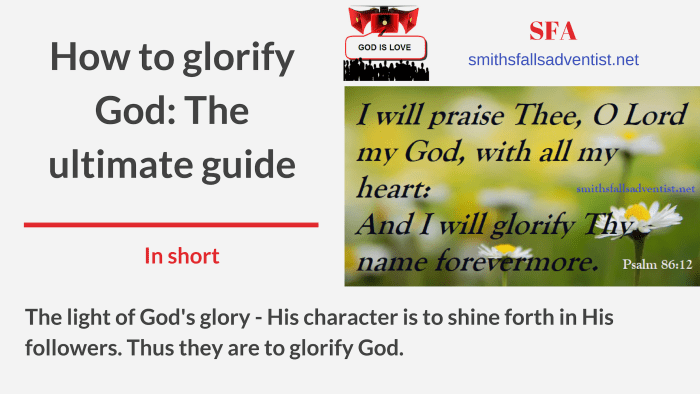 Illustration-Title-How to glorify God The ultimate guide-text on background