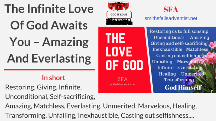 Illustration-Title-The Infinite Love Of God Awaits You – Amazing And Everlasting-text-attributes of God