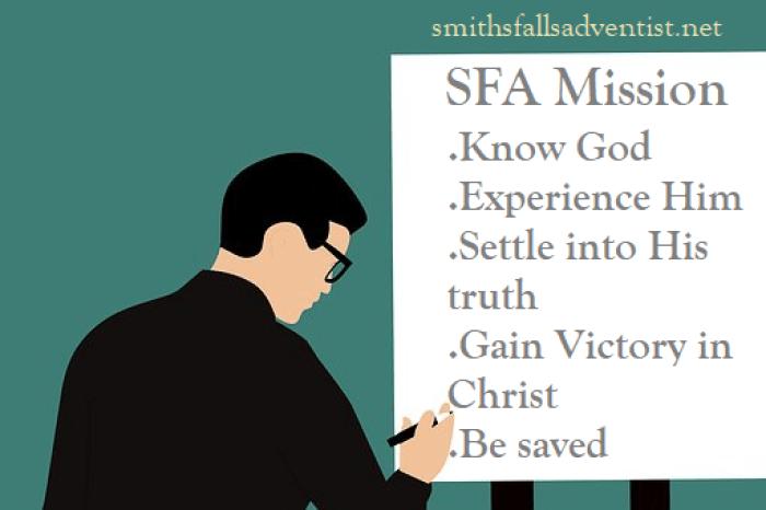 white board-SFA mission statement