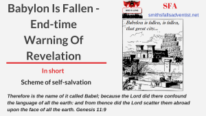 Illustration-Title-Babylon Is Fallen - End-time Warning Of Revelation-text-city-tower