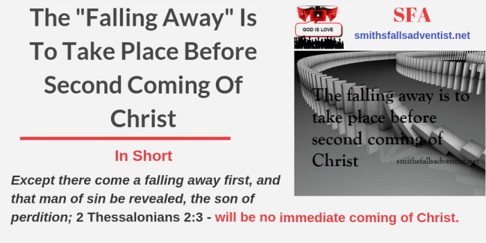 Illustration-Title-The _Falling Away_ Is To Take Place Before Second Coming Of Christ-text-logo