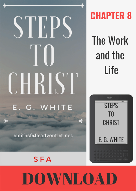Illustration-Ebook Steps To Christ, Chapter 8 - The Work And The Life