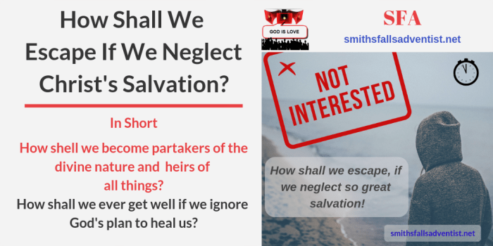 Illustration-Title-How Shall We Escape If We Neglect Christ's Salvation-person-text-logo