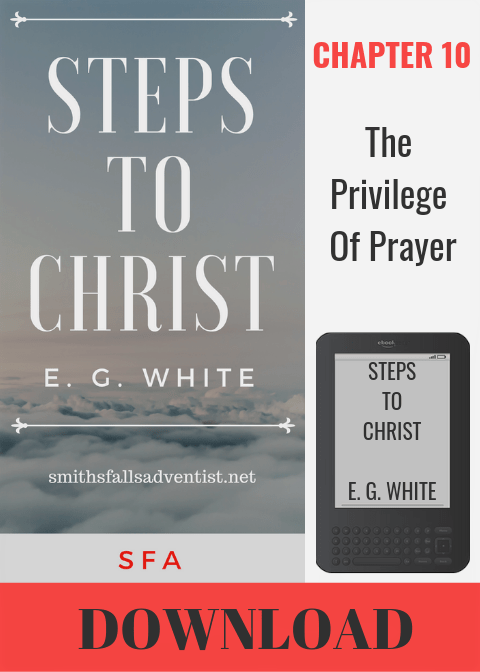 Illustration-Ebook Steps To Christ - The Privilege of Prayer, Chapter 10-text-logo