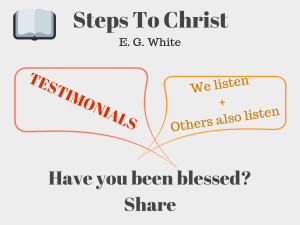 Illustration-Steps to Christ testimonials