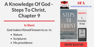 Illustration-Title-A Knowledge Of God - Steps To Christ, Chapter 9-text-logo