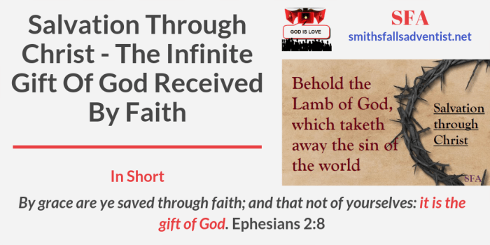 Illustration-Title-Salvation Through Christ - The Infinite Gift Of God Received By Faith-text-logo
