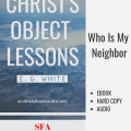 Illustration-Ebook Christ's Object Lessons - Who Is My Neighbor, Chapter 27, text, logo