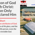 Illustration-Title-Revelation of God Through Christ-The Son Only Have Declared Him-text-logo