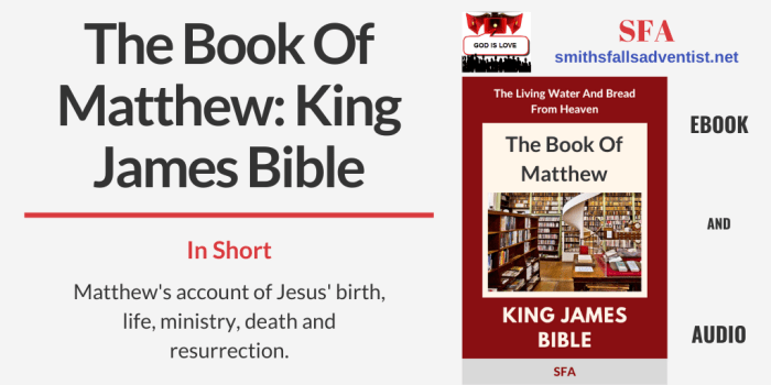 Illustration - Title - The Book Of Matthew - King James Bible - text